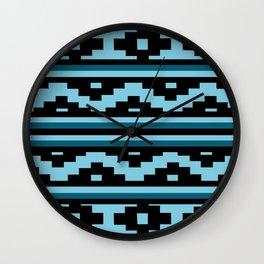 Etnico blue version Wall Clock
