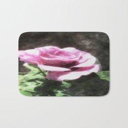 Rosas Moradas 2 Watercolor Bath Mat