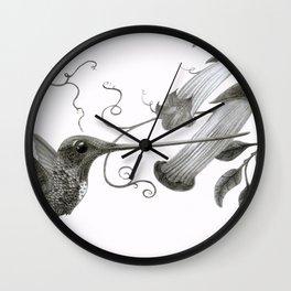 Swordbill Hummingbird Wall Clock