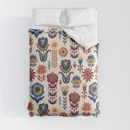 Scandinavian Folk Art Pattern Comforters