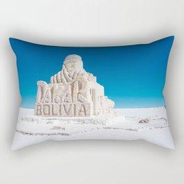 Dakar, Bolivia Monument in Salar de Uyuni, Salt Flats Rectangular Pillow