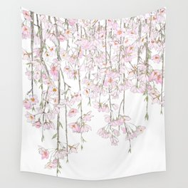 pink cherry blossom spring 2018 Wall Tapestry