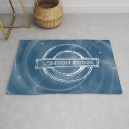 London bridge sign vortex Rug