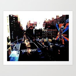 25th St. (Color) Art Print