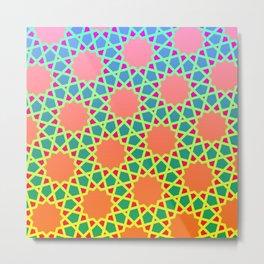 Arabesque gradient Metal Print