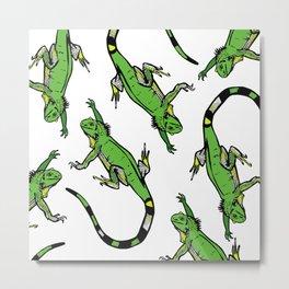 Rainforest Collection - Iguanas Metal Print