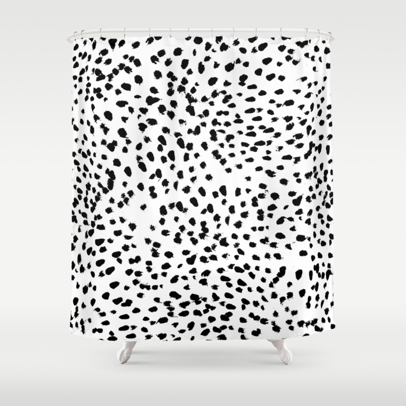 Black and white damask shower curtain - Black And White Damask Shower Curtain 42