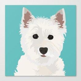 Westie Terrier Canvas Print