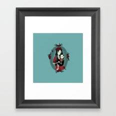 Skeleton Mother & Child - Dia de los Muertos Framed Art Print