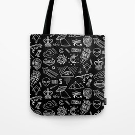 Conspiracy pattern (Censored version) Tote Bag