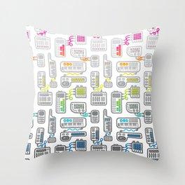 Electronica Throw Pillow