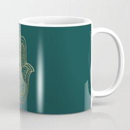 Lotus Gold Hamsa Hand Coffee Mug