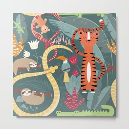 Rain forest animals 003 Metal Print