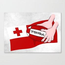 Tonga Rugby Flag Canvas Print