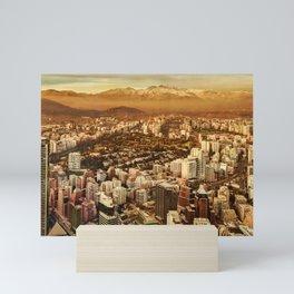 Santiago de Chile Aerial View from San Cristobal Hill Mini Art Print