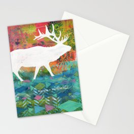 How Wild It Was Elk Collage Stationery Cards