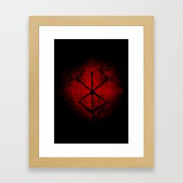 Black Marked Berserk Framed Art Print