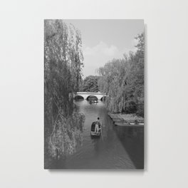 Punting on the Cam Metal Print