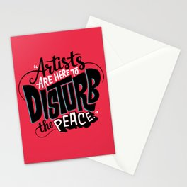 Disturb The Peace Stationery Cards