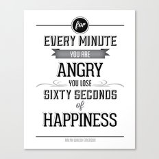 Happiness Quote Canvas Print