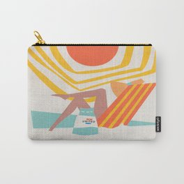 Miami Retro Vintage Travel Poster Carry-All Pouch