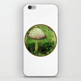 Coprinus Comatus Mushroom iPhone Skin