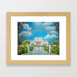 Laie Hawaii LDS Temple Framed Art Print