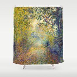 """Auguste Renoir  """"In the Woods"""" Shower Curtain"""