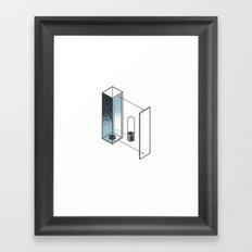 The Exploded Alphabet / I Framed Art Print