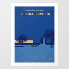 No686-3 My Godfather III minimal movie poster Art Print