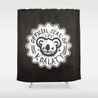 koala Shower Curtains featuring Koala by Ronan Lynam