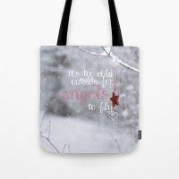 angels Tote Bags featuring Angels by SUNLIGHT STUDIOS  Monika Strigel