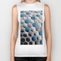 honeycomb Biker Tanks featuring Honeycomb by amanvel