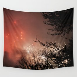Glowing sky Wall Tapestry