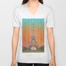 Revolutions - Eiffel Tower Unisex V-Neck
