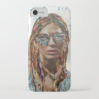 jessica lange iPhone & iPod Cases featuring Jessica by Katy Hirschfeld