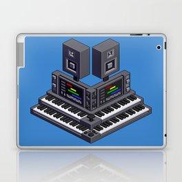 Electronic music altar — isometric pixel art Laptop & iPad Skin