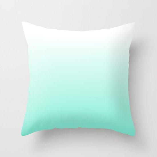 Blue Ombre Throw Pillow