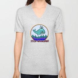 Stop whaling! Unisex V-Neck