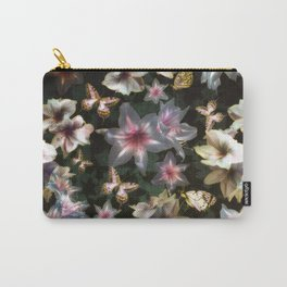 Amaryllis and Butterflies Carry-All Pouch