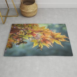Yellow Acer Leaves Rug