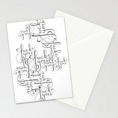 Cursive Cursing Stationery Cards