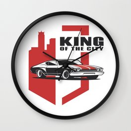 Muscle Car - the king Wall Clock