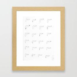 24 Dogs Framed Art Print