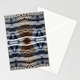 Ethnic hand drawn shibori Stationery Cards