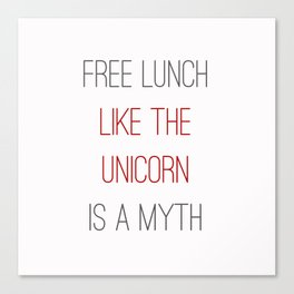 FREE LUNCH 1 Canvas Print