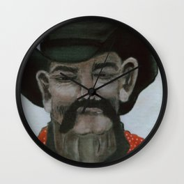 Lonesome Cowpoke Wall Clock