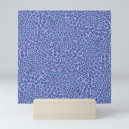 Leopard Dream Night PurpleCyan Mini Art Print