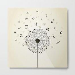 Music a dandelion Metal Print