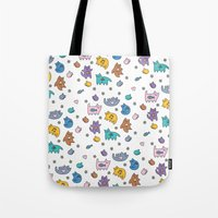 kittens Tote Bags featuring Kittens by Plushedelica